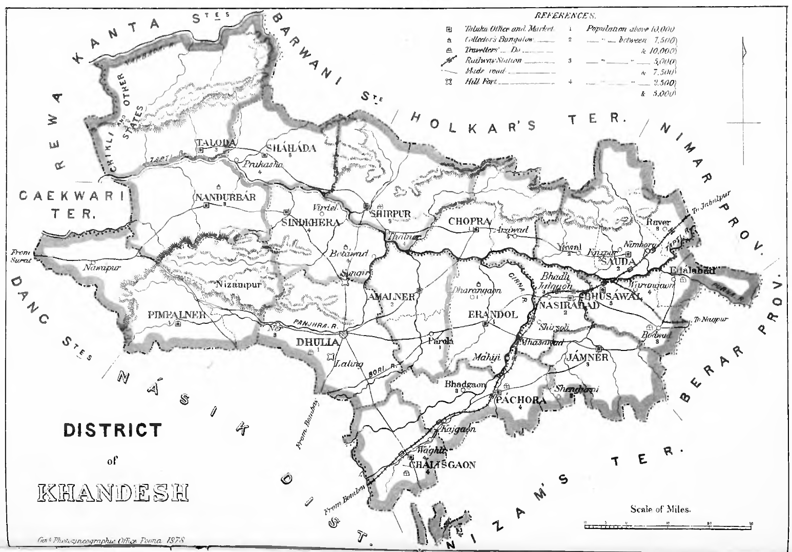 Khandesh District in 1878